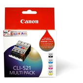 Canon CLI-521 C/M/Y/BK ChromaLife100 Multi Ink Cartridge Pack