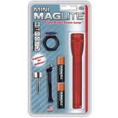 Maglite AA Mini Maglite Flashlight Combo Pack (Red)