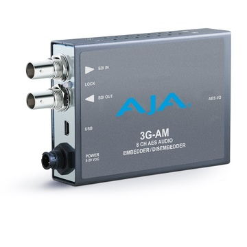 AJA 3G-AM-BNC 8-Channel AES Embedder/Disembedder with BNC Connector Cable