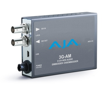 AJA 3G-AM-XLR 8-Channel AES Embedder/Disembedder with XLR Connector Cable