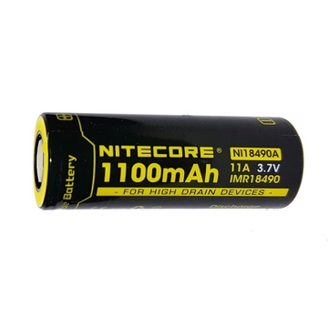 NITECORE NI18490A Flat Top Li-Ion Rechargeable IMR 18490 Battery (1100mAh)