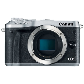 Canon EOS M6 Mirrorless Digital Camera (Body Only, Silver)