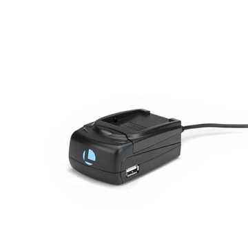 Luminos Universal Compact Fast Charger with Adapter Plate for Canon LP-E10