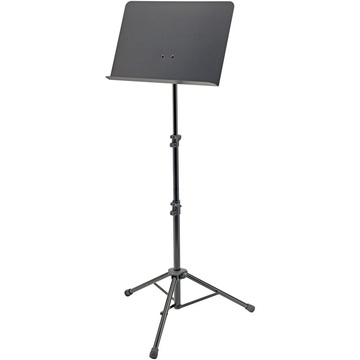 "K&M 11870 Height-Adjustable 25.6 to 59"" Orchestra Music Stand (Black)"