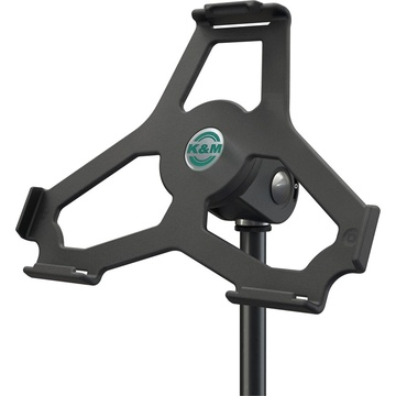 "K&M 19717 iPad Air 2 Holder for 5/8"" Microphone Stand (Black)"