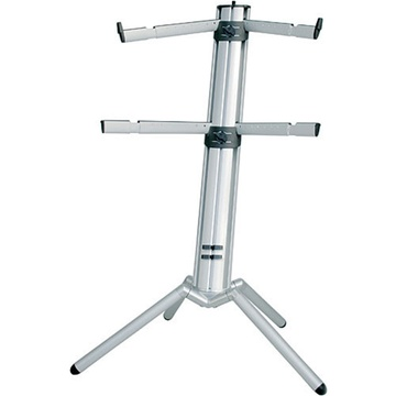 K&M 18860 Spider-Pro Double-Tier Keyboard Stand (Silver)
