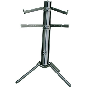 K&M 18860/B Spider-Pro Double-Tier Keyboard Stand (Black)