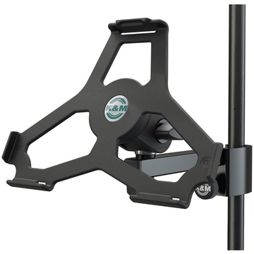 K&M 19727 iPad Air 2 Holder for Stand Tube Up to 33mm (Black)
