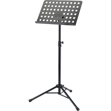 K&M 11940 2-Piece Foldable Topline Orchestra Music Stand (Black)
