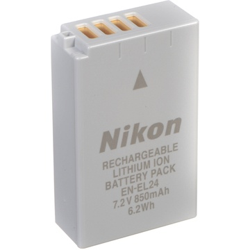 Nikon EN-EL24 Rechargeable Lithium-Ion Battery Pack (7.2V, 850mAh)