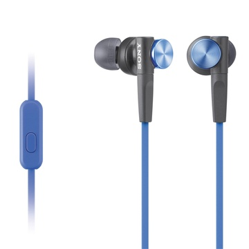 Sony MDR-XB50AP Extra Bass Earbud Headset (Blue)