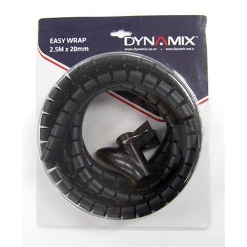 DYNAMIX Easy Wrap Cable Management Solution (Black, 2.5m x 20mm)