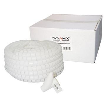 DYNAMIX Easy Wrap Cable Management Solution (White, 20m x 20mm)