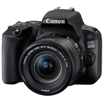 Canon EOS 200D DSLR Camera with 18-55mm Lens (Black)