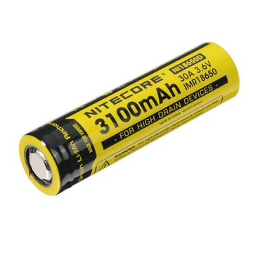 NITECORE NI18650D Button Top Rechargeable Li-Ion Battery 18650 Battery (3100mAh)