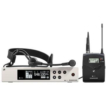 Sennheiser EW 100 G4-ME 3-II Wireless Bodypack System with ME 3-II Headset Microphone (A Band)