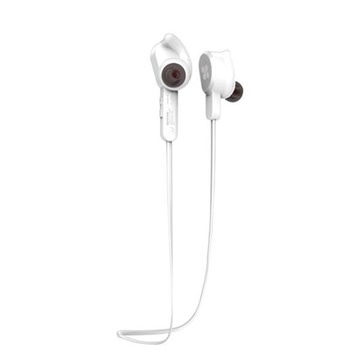 Promate Vitally-2 Wireless Secure-Fit Stereo Magnetic Earbuds (White)