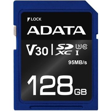ADATA 128GB Premier Pro V30 SDXC UHS-I U3 Memory Card (Class 10)