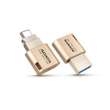 ADATA UC350 32GB USB 3.1 Type A/Type-C Flash Drive (Gold)