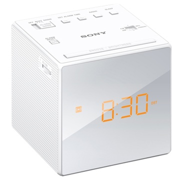 Sony ICFC1 Single Alarm Clock Radio (White)