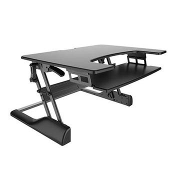 BRATECK Sit-Stand Desktop (Black)
