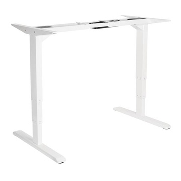 BRATECK 3-Stage Reverse Dual Motor Electric Sit-Stand Desk Frame (White)