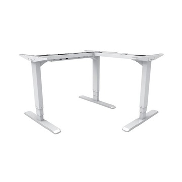 BRATECK 3-Stage Reverse Triple Motor, Electric Sit-Stand Desk Frame (White)