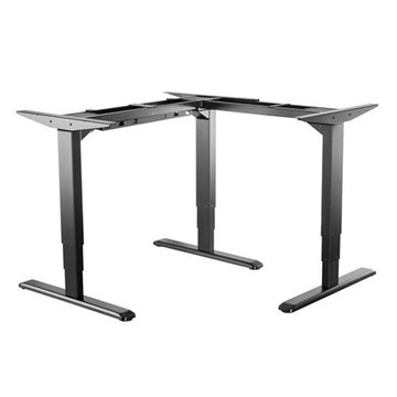 BRATECK 3-Stage Reverse Triple Motor, Electric Sit-Stand Desk Frame (Black)