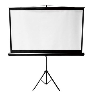 "BRATECK 96"" Projector Screen with Tripod 1:1 Aspect ratio"