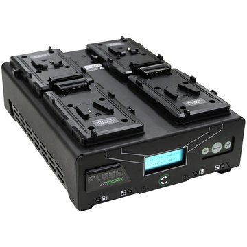 Core SWX Fleet Micro Digital Quad Charger for V-Mount Batteries