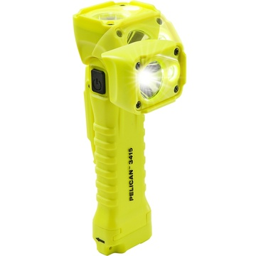 Pelican 3415 Right Angle Light with Magnet Belt Clip (Yellow)