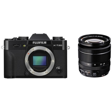 Fujifilm X-T20 Mirrorless Digital Camera (Black) with XF 18-55mm Lens