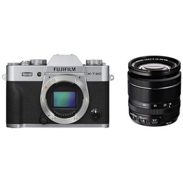 Fujifilm X-T20 Mirrorless Digital Camera (Silver) with XF 18-55mm Lens