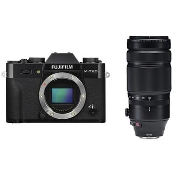 Fujifilm X-T20 Mirrorless Digital Camera (Black) with XF 100-400mm f/4.5-5.6 R LM OIS WR Lens