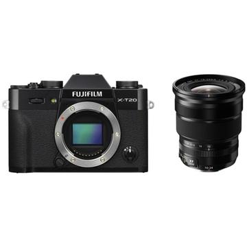 Fujifilm X-T20 Mirrorless Digital Camera (Black) with XF 10-24mm f/4 R OIS Lens