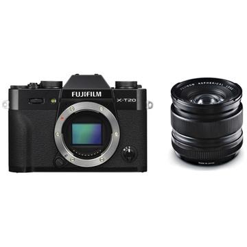 Fujifilm X-T20 Mirrorless Digital Camera (Black) with XF 14mm f/2.8 R Ultra Wide-Angle Lens