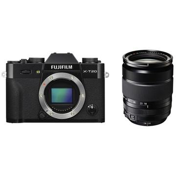 Fujifilm X-T20 Mirrorless Digital Camera (Black) with XF 18-135mm f/3.5-5.6 R LM OIS WR Lens