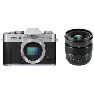 Fujifilm X-T20 Mirrorless Digital Camera (Silver) with XF 16mm f/1.4 R WR Lens