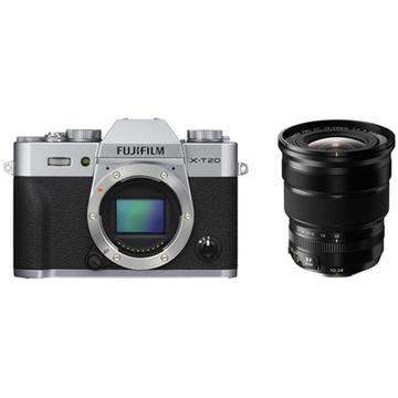 Fujifilm X-T20 Mirrorless Digital Camera (Silver) with XF 10-24mm f/4 R OIS Lens