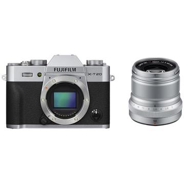 Fujifilm X-T20 Mirrorless Digital Camera (Silver) with XF 50mm f/2 R WR Lens (Silver)
