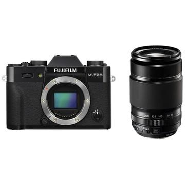 Fujifilm X-T20 Mirrorless Digital Camera (Black) with XF 55-200mm f/3.5-4.8 R LM OIS Lens