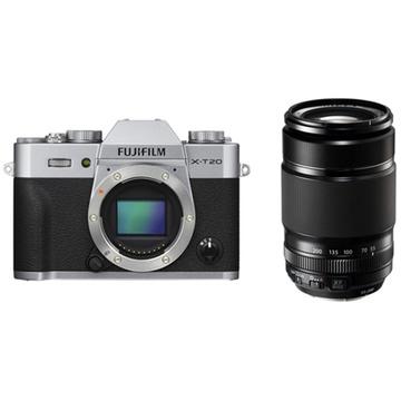 Fujifilm X-T20 Mirrorless Digital Camera (Silver) with XF 55-200mm f/3.5-4.8 R LM OIS Lens