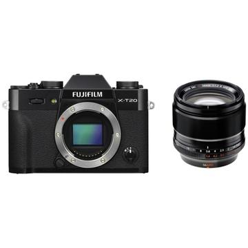Fujifilm X-T20 Mirrorless Digital Camera (Black) with XF 56mm f/1.2 R APD Lens
