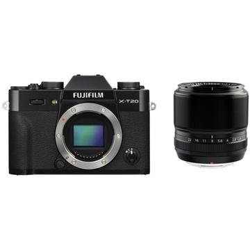 Fujifilm X-T20 Mirrorless Digital Camera (Black) with XF 60mm f/2.4 Macro Lens