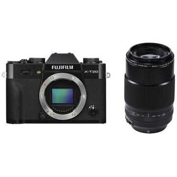 Fujifilm X-T20 Mirrorless Digital Camera (Black) with XF 80mm f/2.8 R LM OIS WR Macro Lens