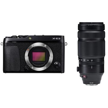 Fujifilm X-E3 Mirrorless Digital Camera (Black) with XF 100-400mm f/4.5-5.6 R LM OIS WR Lens