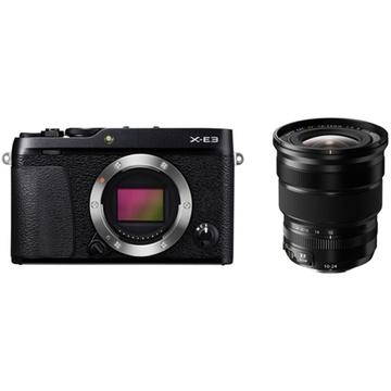Fujifilm X-E3 Mirrorless Digital Camera (Black) with XF 10-24mm f/4 R OIS Lens