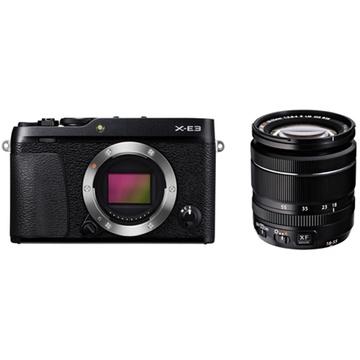 Fujifilm X-E3 Mirrorless Digital Camera (Black) with XF 18-55mm f/2.8-4 R LM OIS Zoom Lens