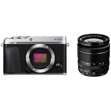 Fujifilm X-E3 Mirrorless Digital Camera (Silver) with XF 18-55mm f/2.8-4 R LM OIS Zoom Lens