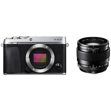Fujifilm X-E3 Mirrorless Digital Camera (Silver) with XF 23mm f/1.4 R Lens
